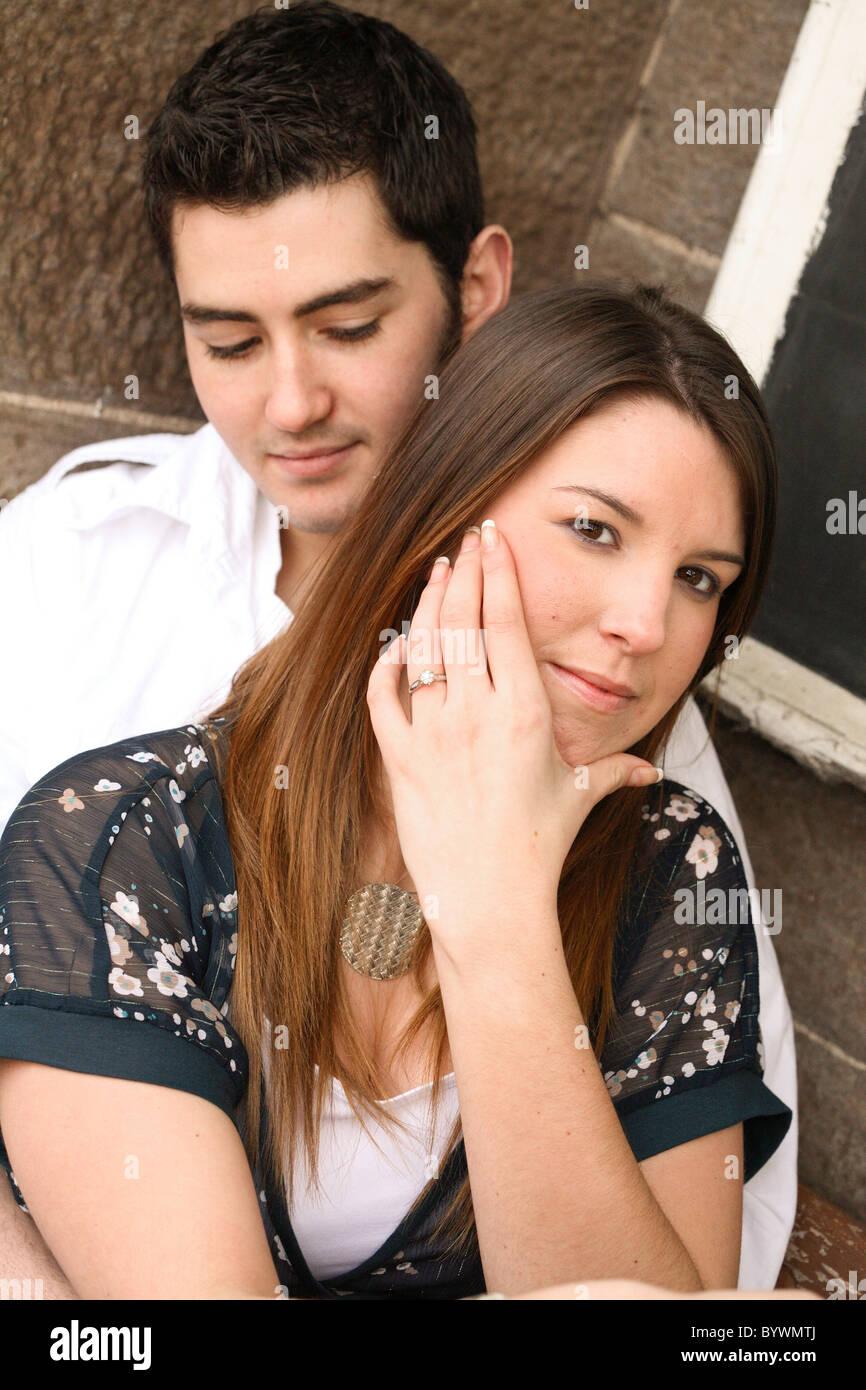 Heureux fiancés Photo Stock