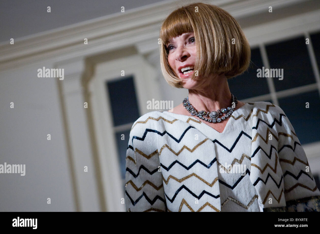 L'éditeur de Vogue Anna Wintour Photo Stock