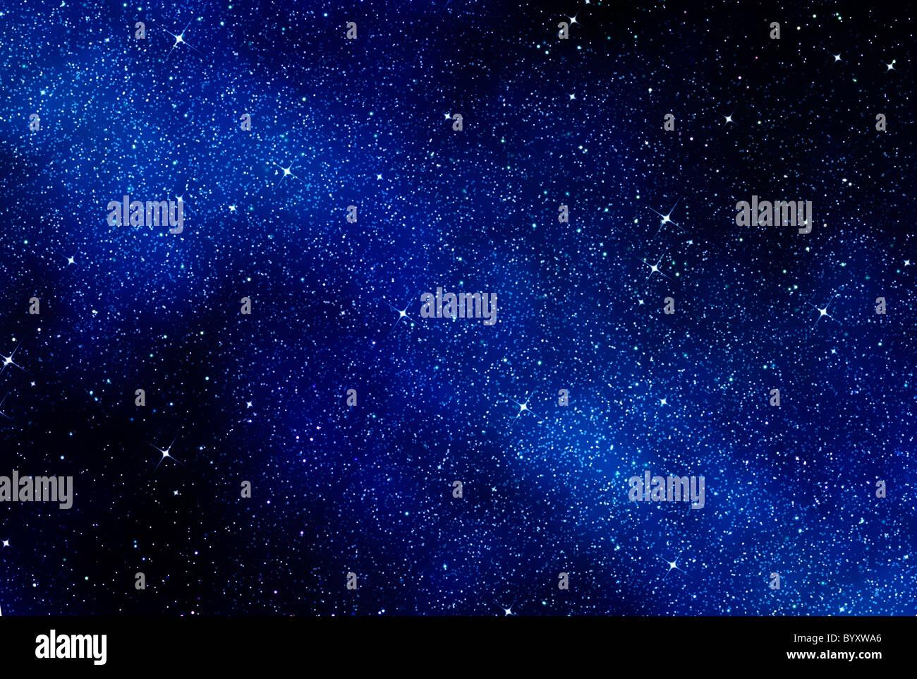 Grand droit de l'espace ou d'un ciel étoilé Banque D'Images