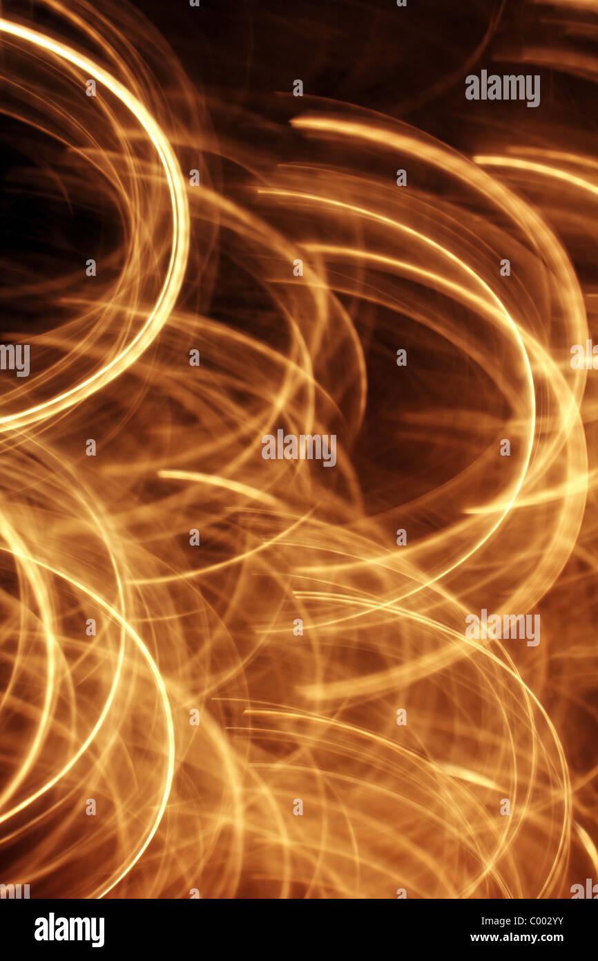 Résumé des arcs, bagues et cercles de lumière Photo Stock