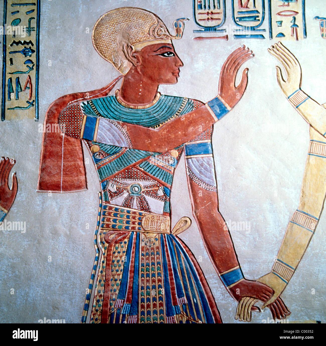 Peinture Murale De L égypte Ancienne Dans Le Tombeau De L