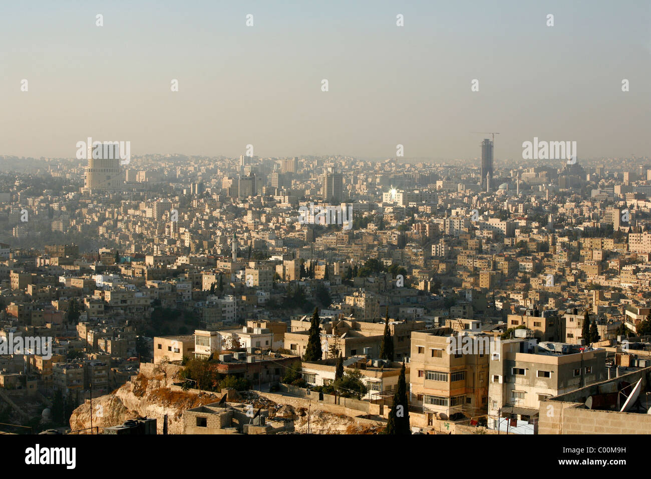 Toits de Amman, Amman, Jordanie. Photo Stock