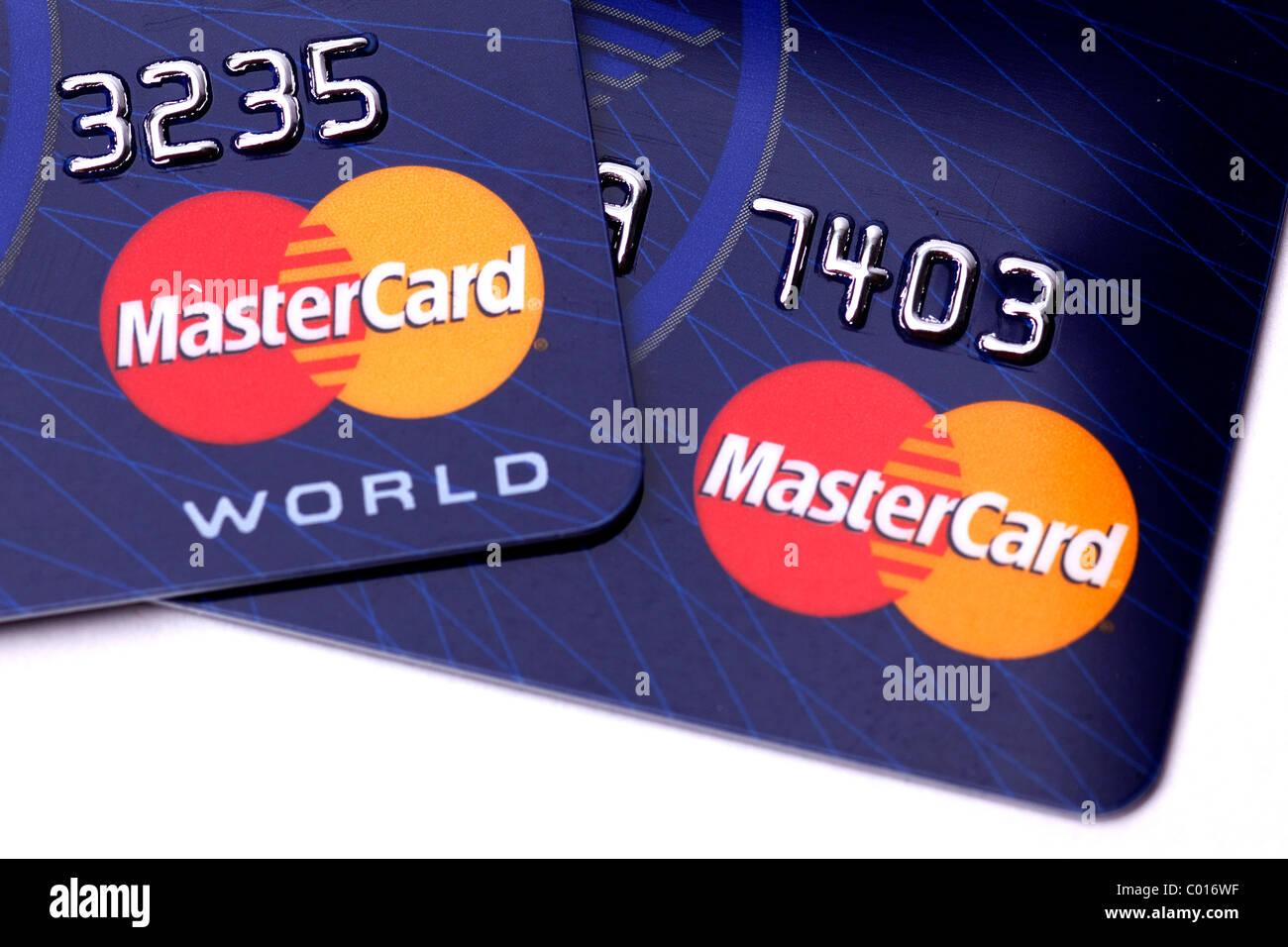 Les cartes de crédit, Mastercard Photo Stock