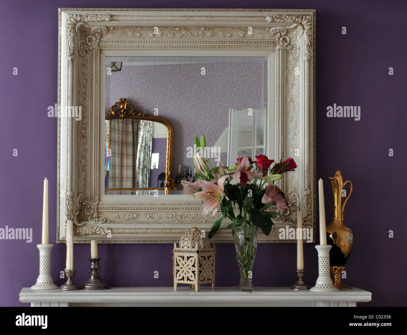 Miroirs, regency, intérieur, décoration Photo Stock