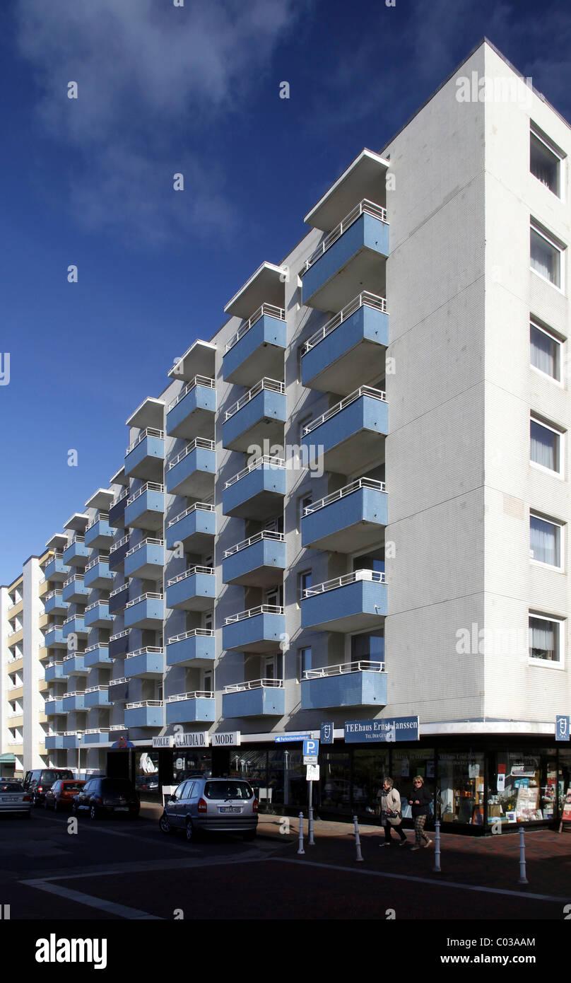 Appartements de vacances, Westerland, l'île de Sylt, au nord de la Frise, Schleswig-Holstein, Allemagne, Photo Stock