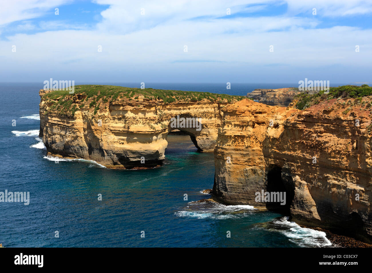 Littoral, Port Campbell National Park, Victoria, Australie Photo Stock