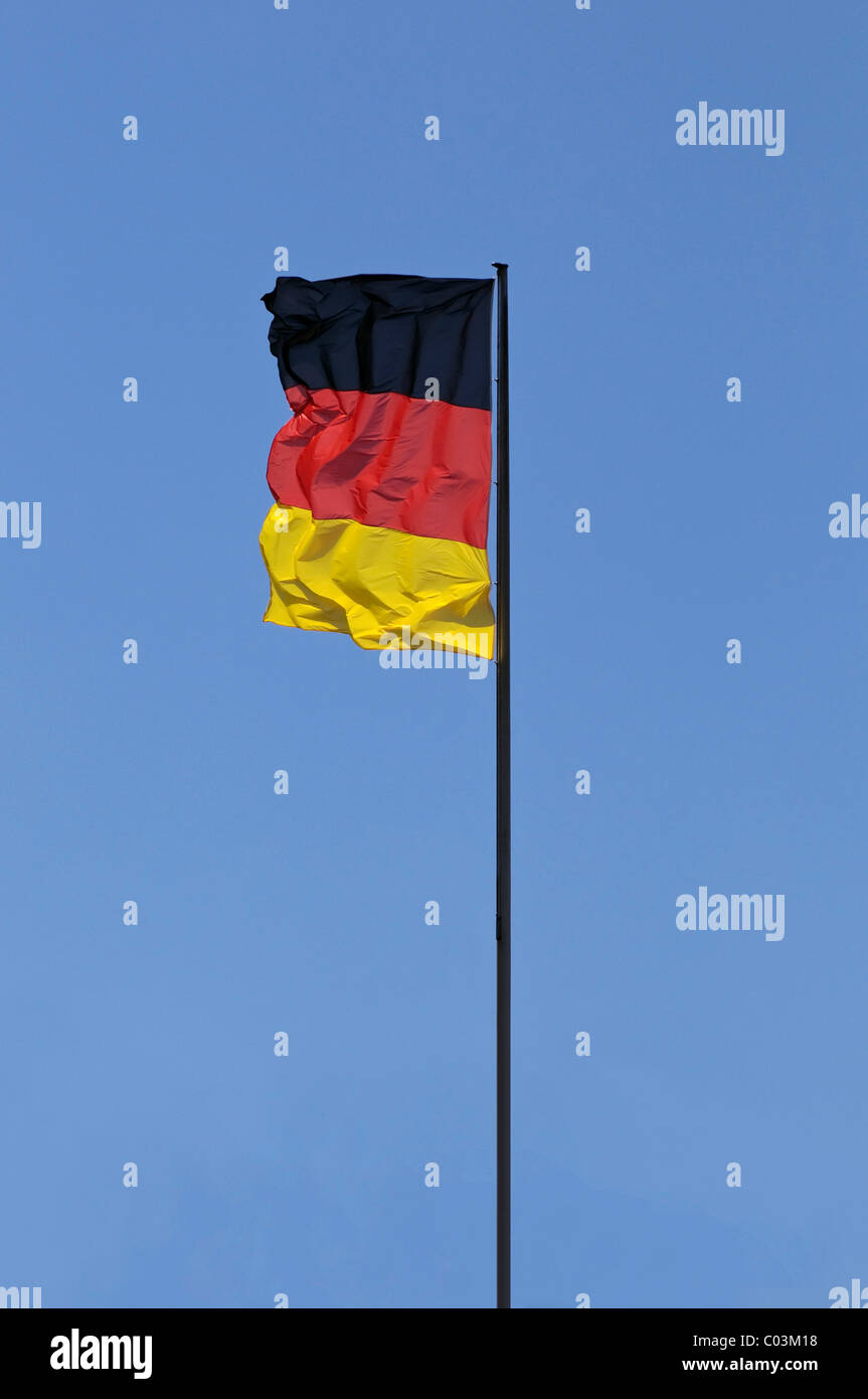 Drapeau allemand Photo Stock
