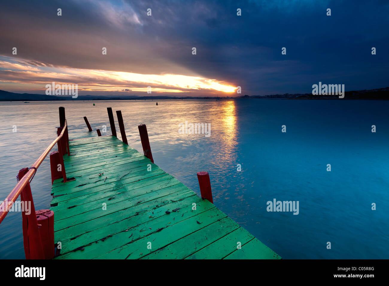 Baie de Santander (nord de l'Espagne) Photo Stock