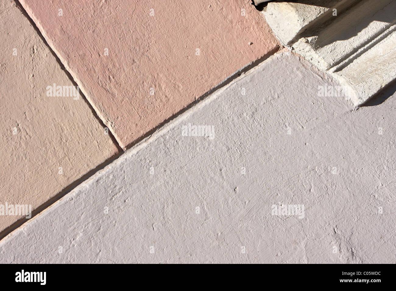La structure en béton composé de plâtre Photo Stock