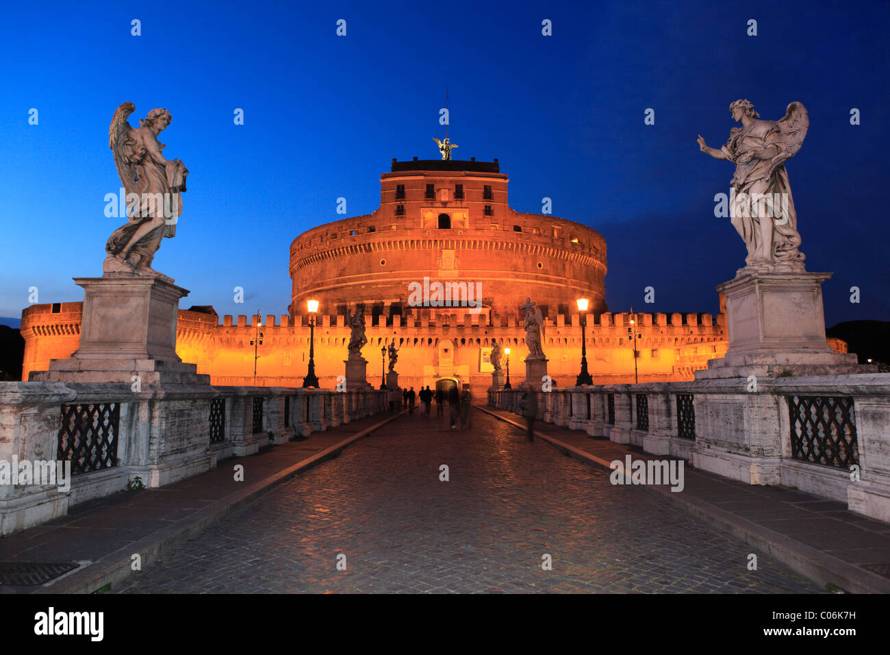 Pont Ponte Sant'Angelo, Rome, Italie, Europe Photo Stock