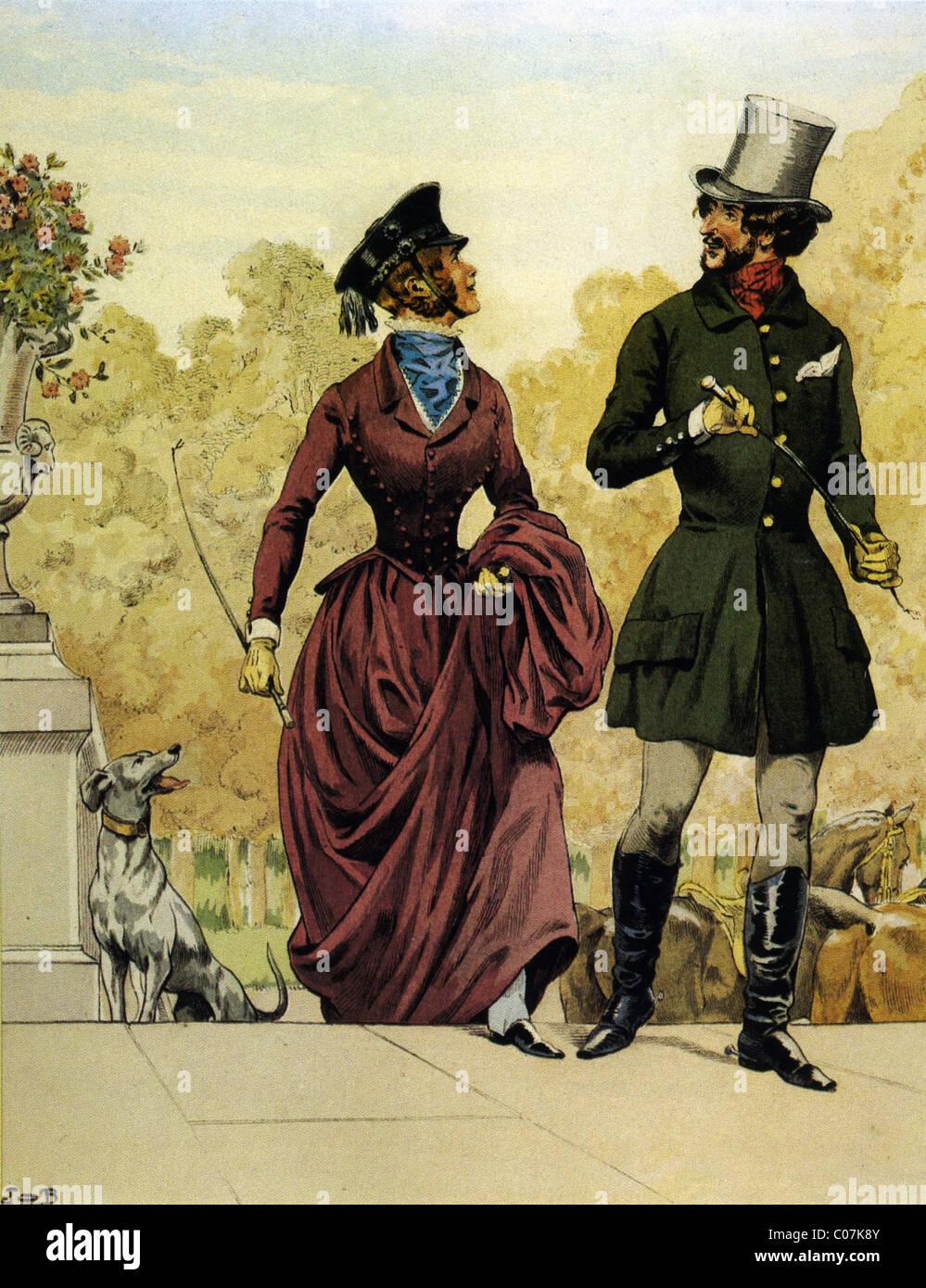 Travail (Jacques Onfroy de Bréville) - Illustrateur français (1858 - 1931) Modes parisiennes: Costumes Photo Stock