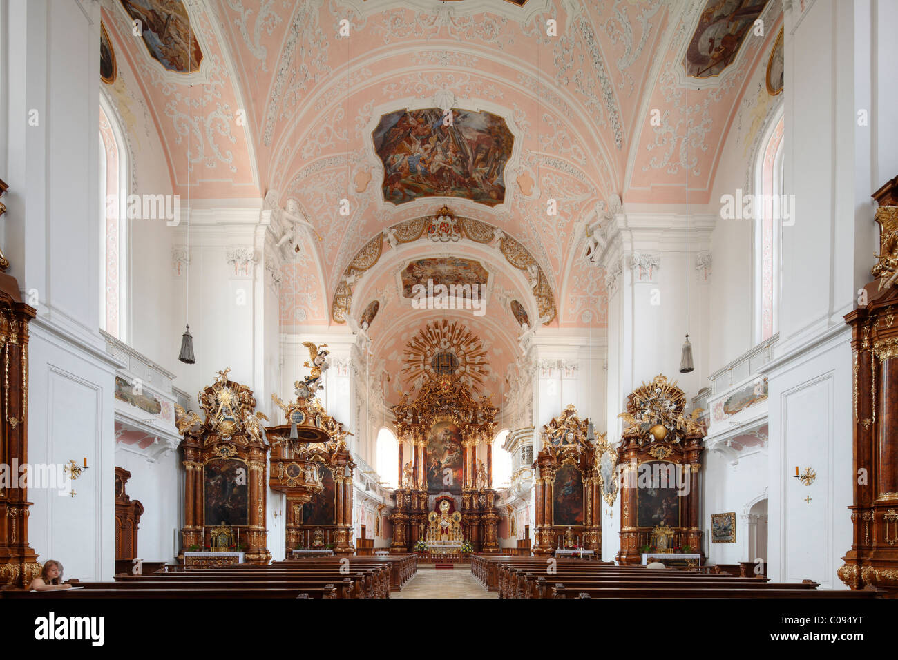 Ange gardien Église, Eichstaett, Altmuehltal, Haute-Bavière, Bavaria, Germany, Europe Photo Stock