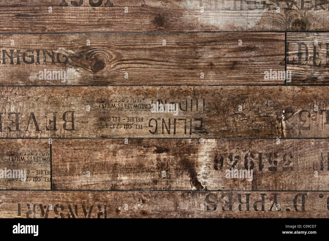 Impression Photo Planche Bois planches en bois avec l'impression de tampon, l'arrière-plan