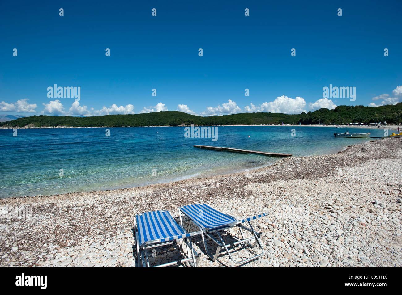 Avlaki Beach, Corfou, Grèce Photo Stock