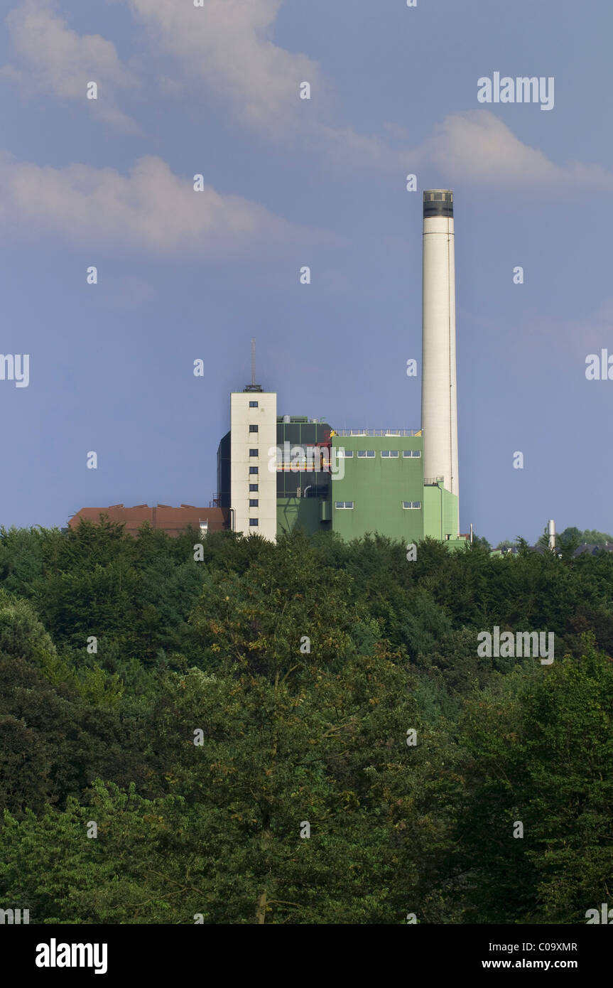 Usine d'incinération des déchets du mbH Wuppertal entreprise de gestion des déchets, Nordrhein Photo Stock
