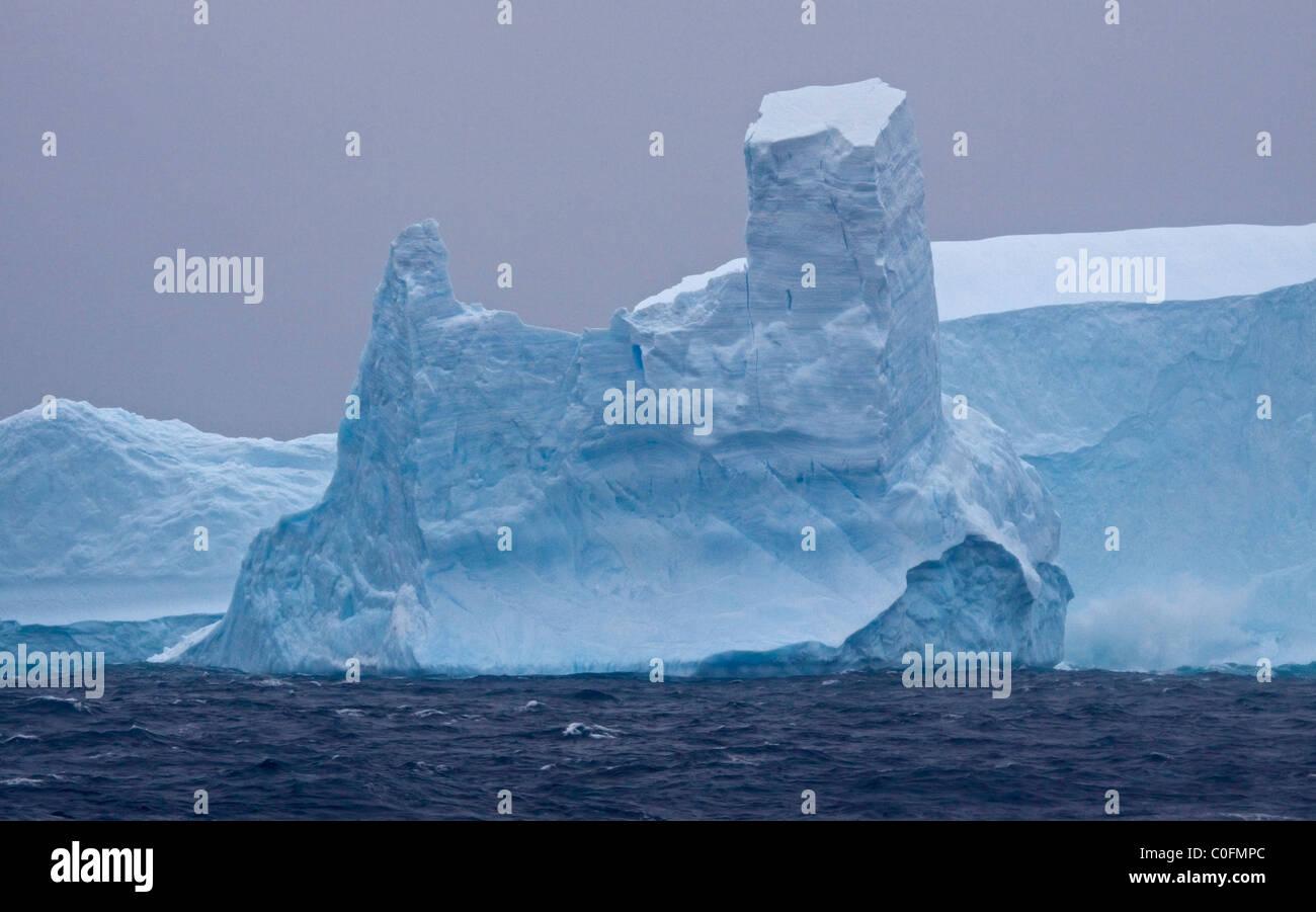 Iceberg dans l'océan du Sud Photo Stock