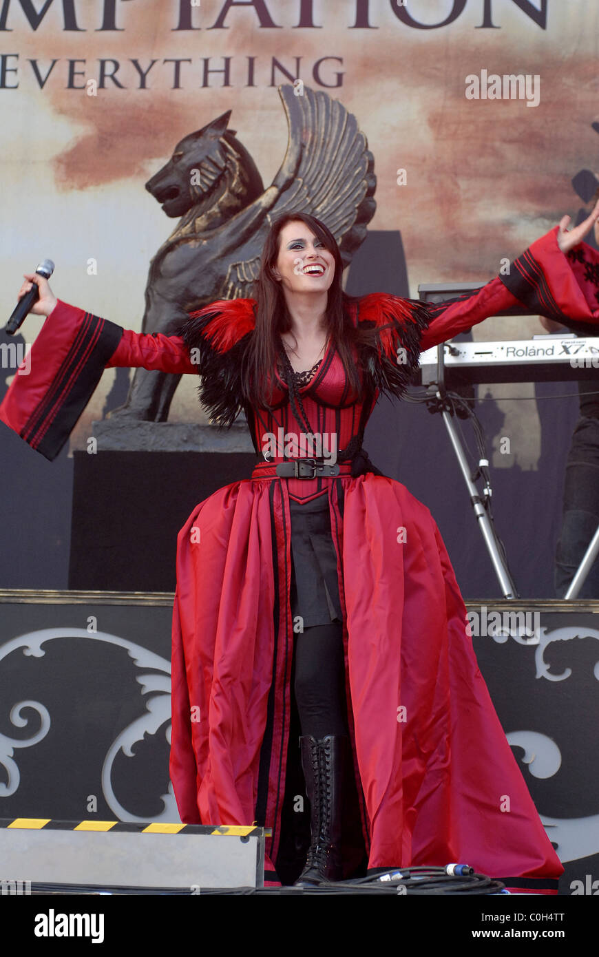 Sharon den Adel de Within Temptation Download Festival 2008 - Jour 3