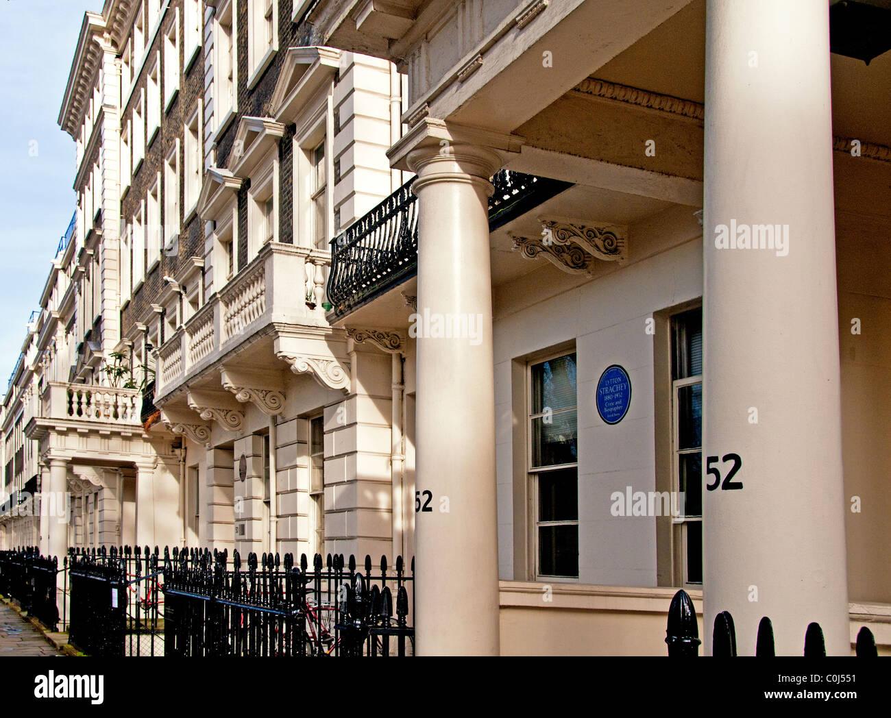 Maisons à Bloomsbury, Londres; Häuserzeile à Londres, Gordon Square (Bloomsbury) Banque D'Images