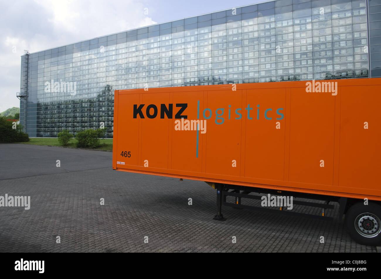 Entrepôt de distribution Villeroy & Boch, Merzig, Sarre, Allemagne Photo Stock