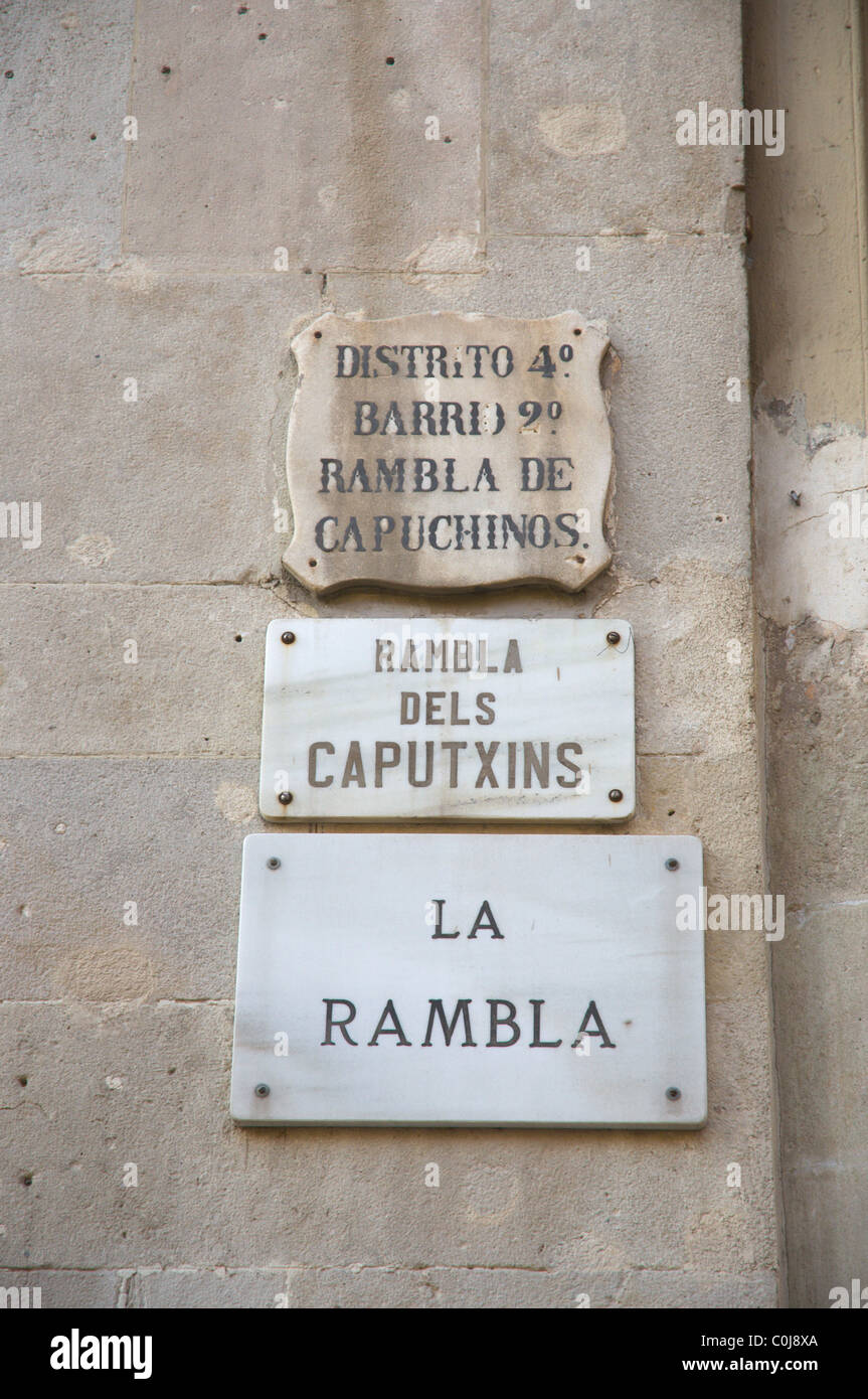 La Rambla de Catalunya de Barcelone Espagne Europe centrale Banque D'Images