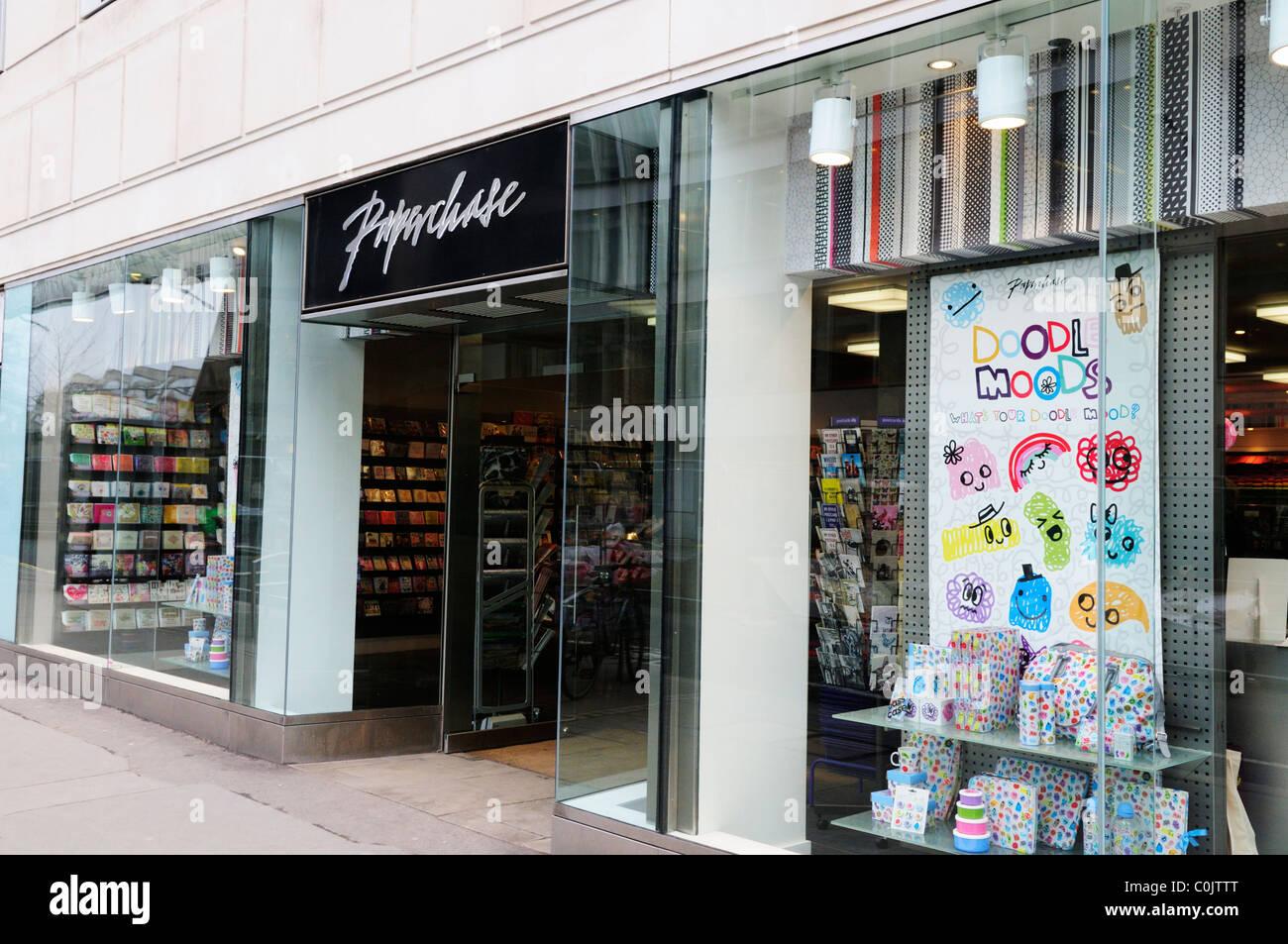 Papeterie Paperchase, London, England, UK Photo Stock