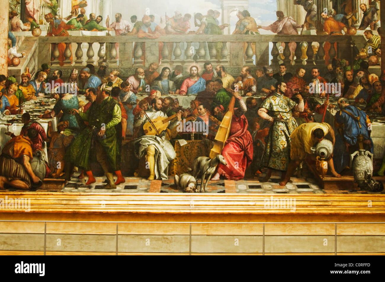 La Peinture De La Cene Dans Un Musee Musee Du Louvre Paris France Photo Stock Alamy