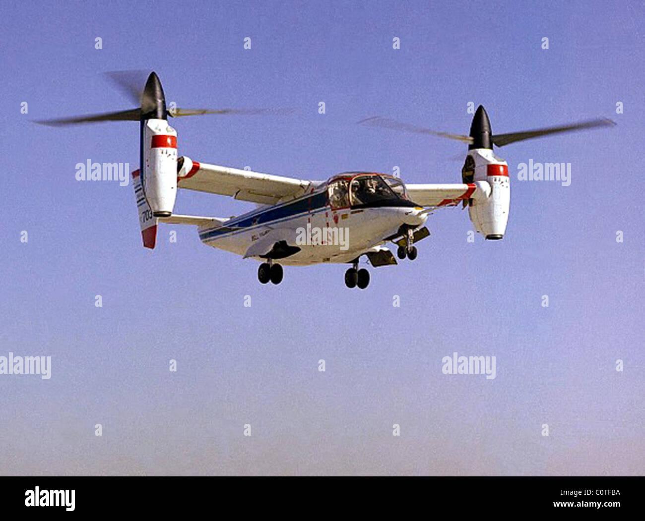 NASA-Army-Bell XV-15 avions de recherche rotor basculant Photo Stock