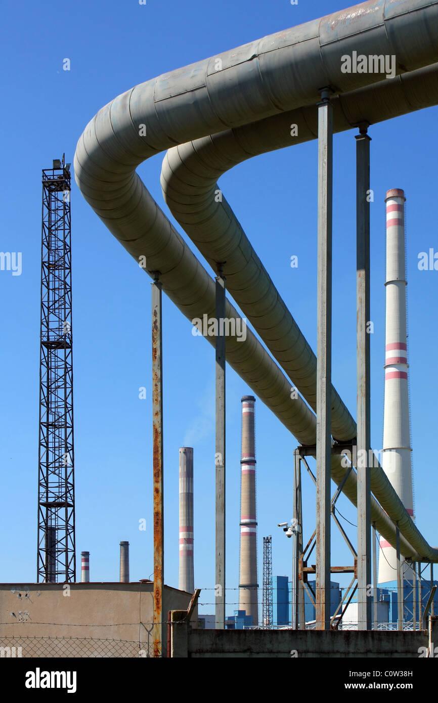 Centrale à charbon Photo Stock