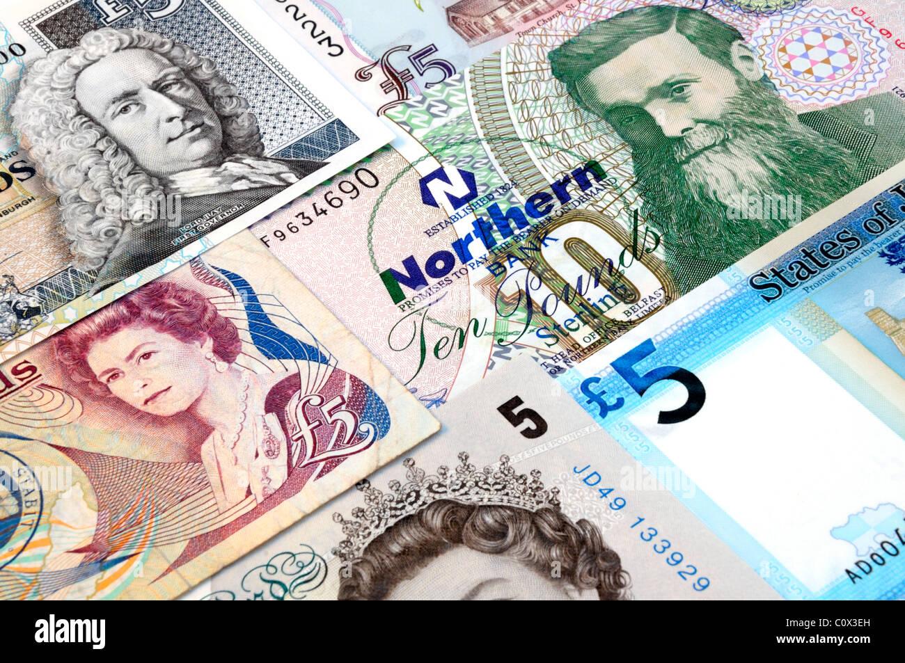 Royaume-uni les billets de banque. Photo Stock