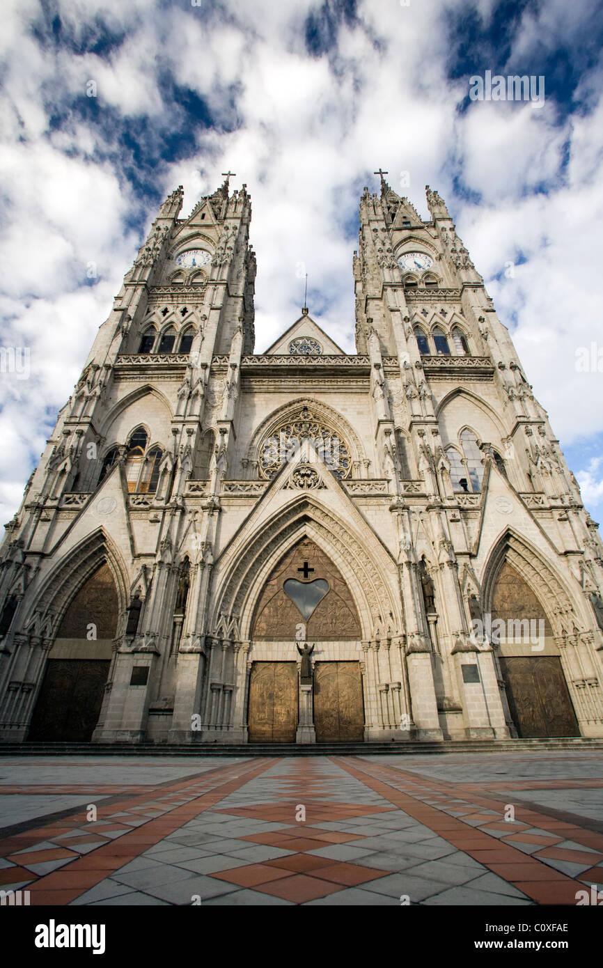 La Basilica del Voto Nacional - Quito, Équateur Photo Stock