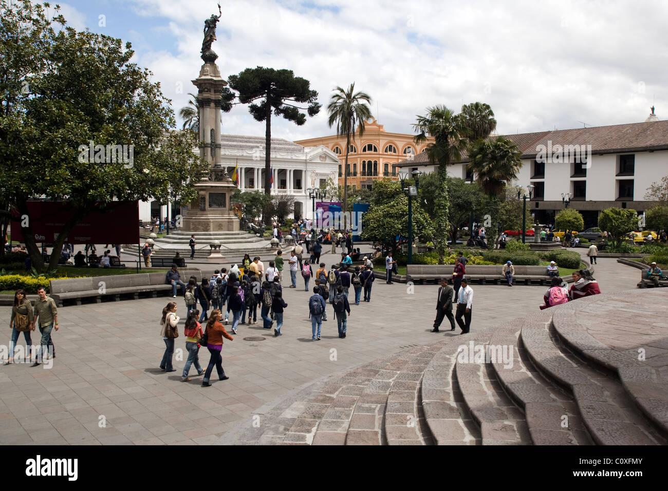 Place de l'indépendance - Quito, Équateur Photo Stock
