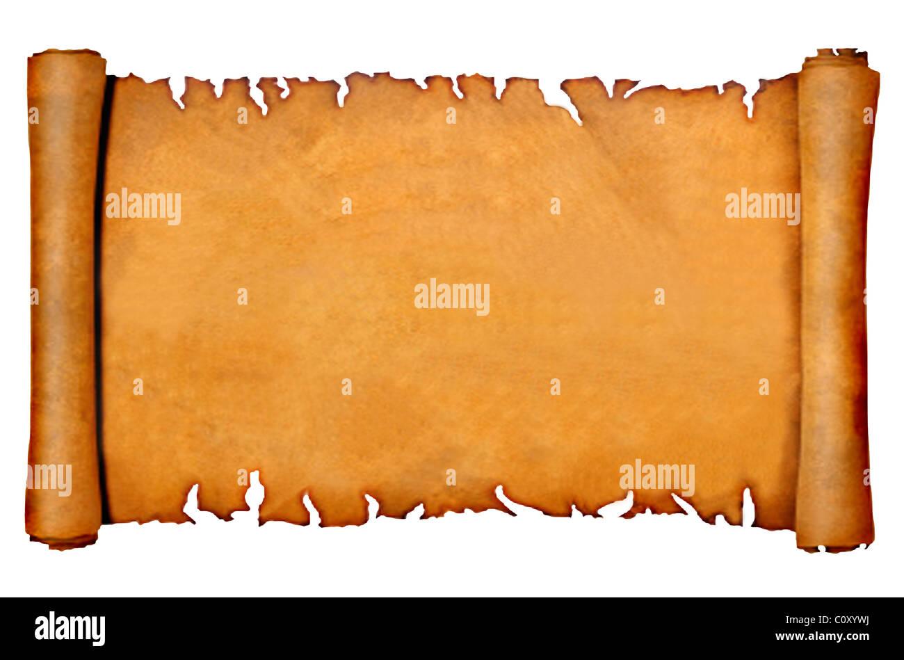 Parchemin Vierge Ou Faire Defiler Photo Stock Alamy