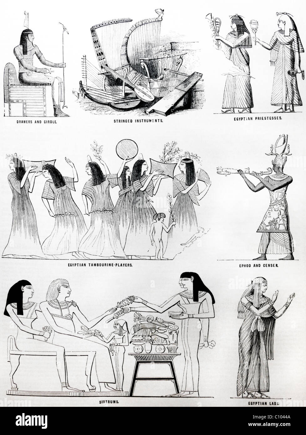 Illustrations de la Bible d'Egyptiens Photo Stock