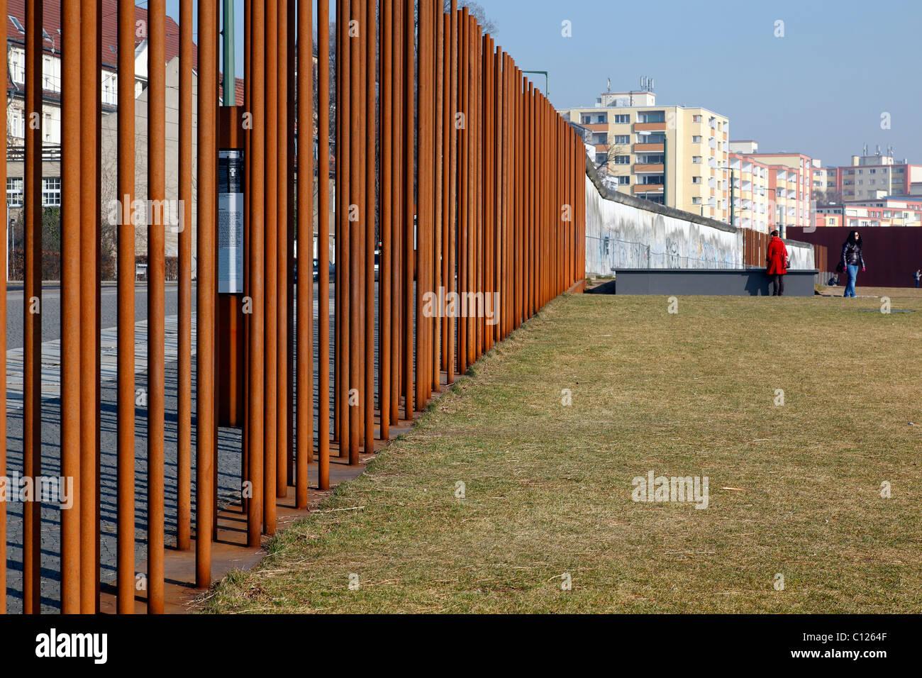 Mémorial du Mur de Berlin d'un centre d'accueil, Berlin, Allemagne Banque D'Images