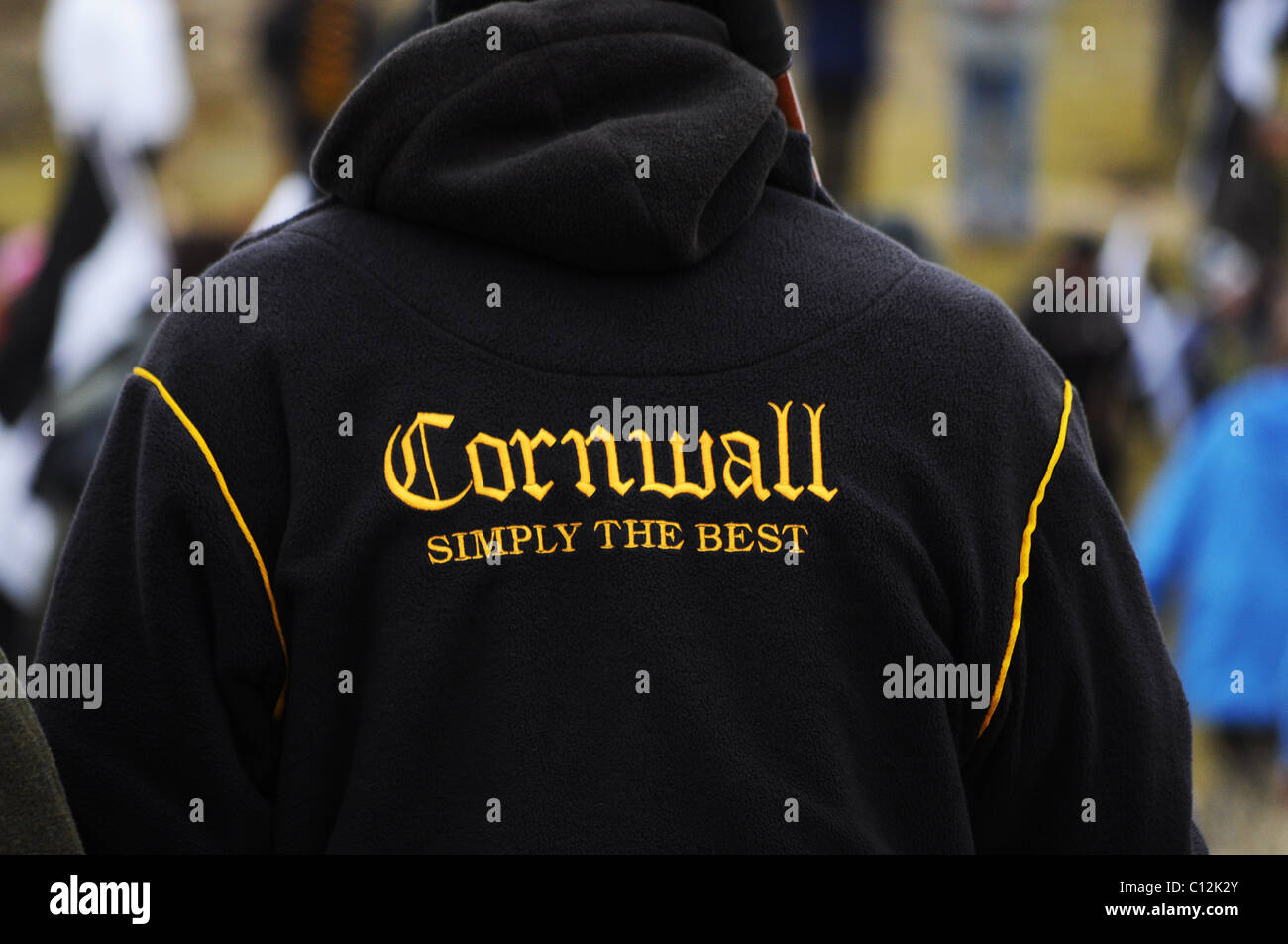 Un supporteur rugby Cornwall Photo Stock