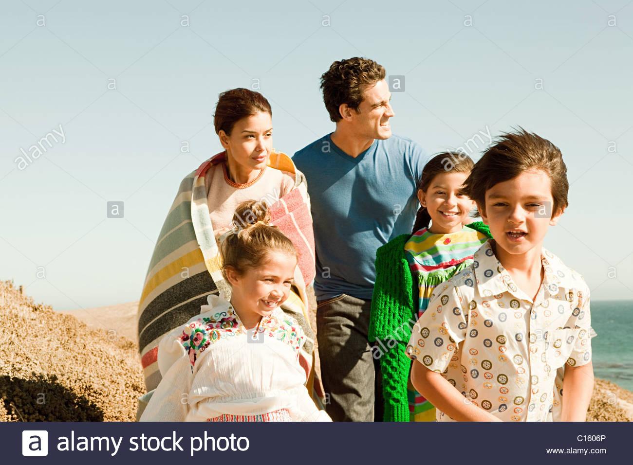 Famille en vacances Photo Stock