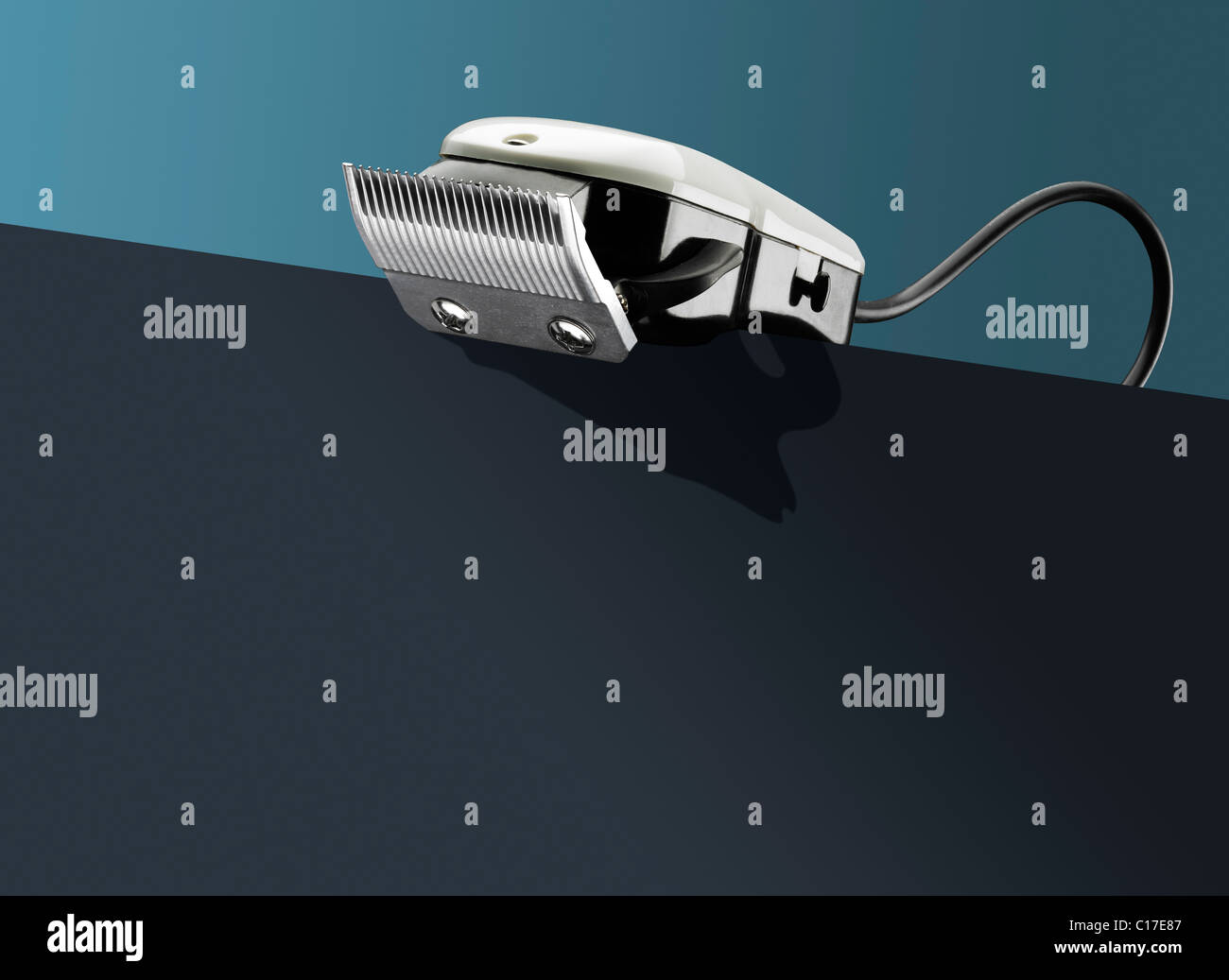 Tondeuses sur - conceptuelles Photo Stock