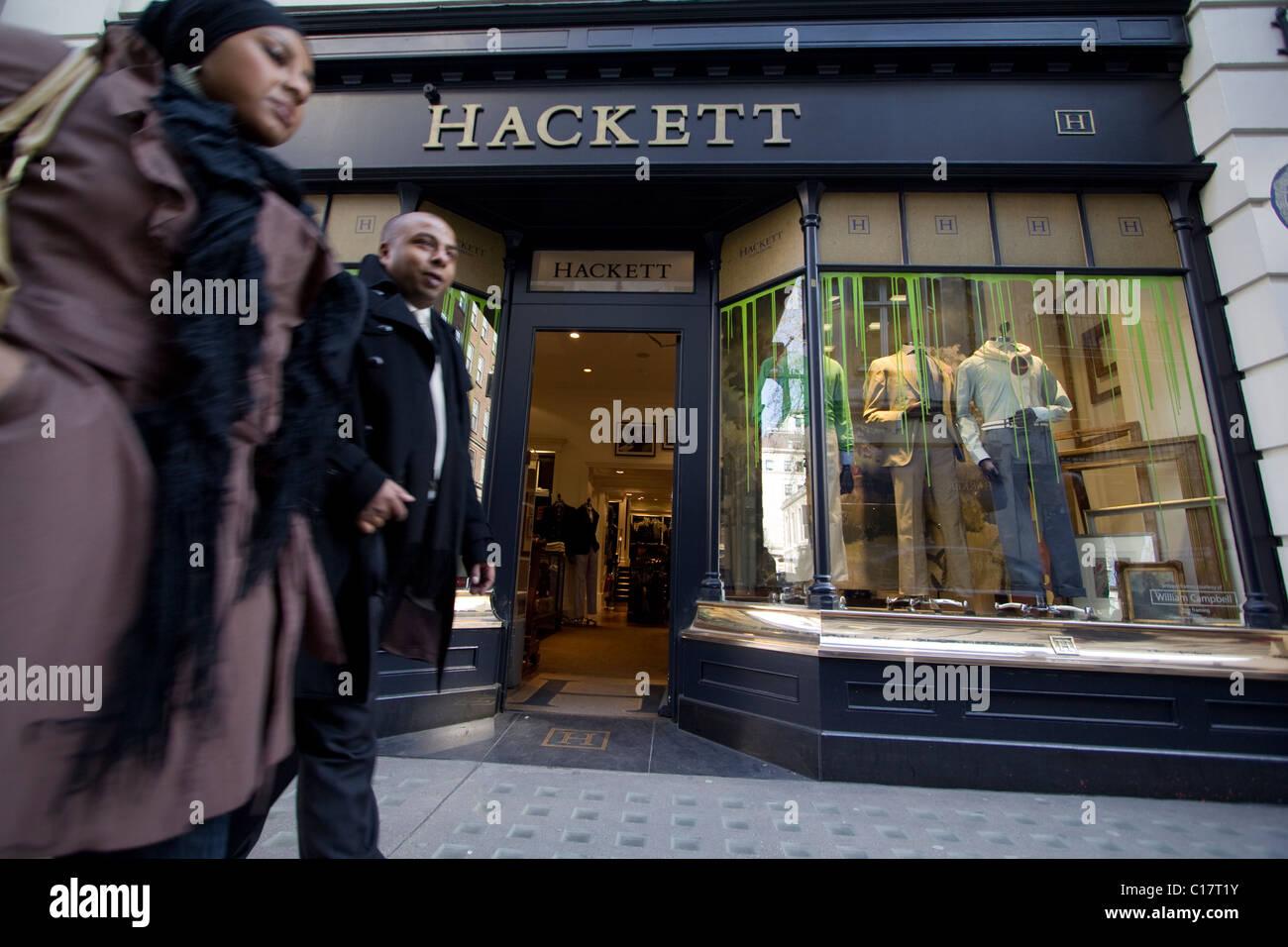 Détaillant de vêtements Hackett shop Photo Stock