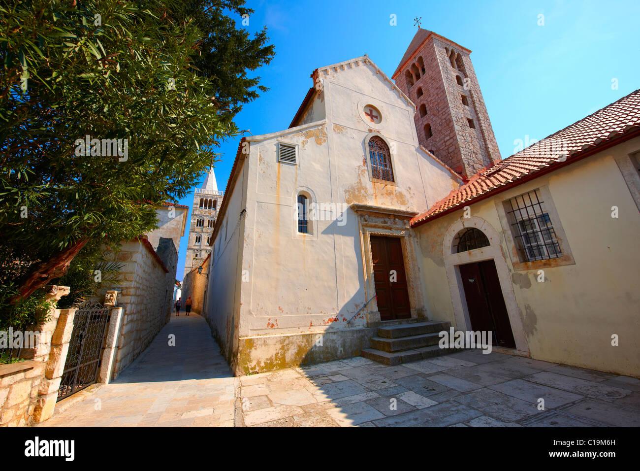 La chapelle du couvent bénédictin de St Andrew, Rab ville, l''île de Rab, Croatie. Photo Stock