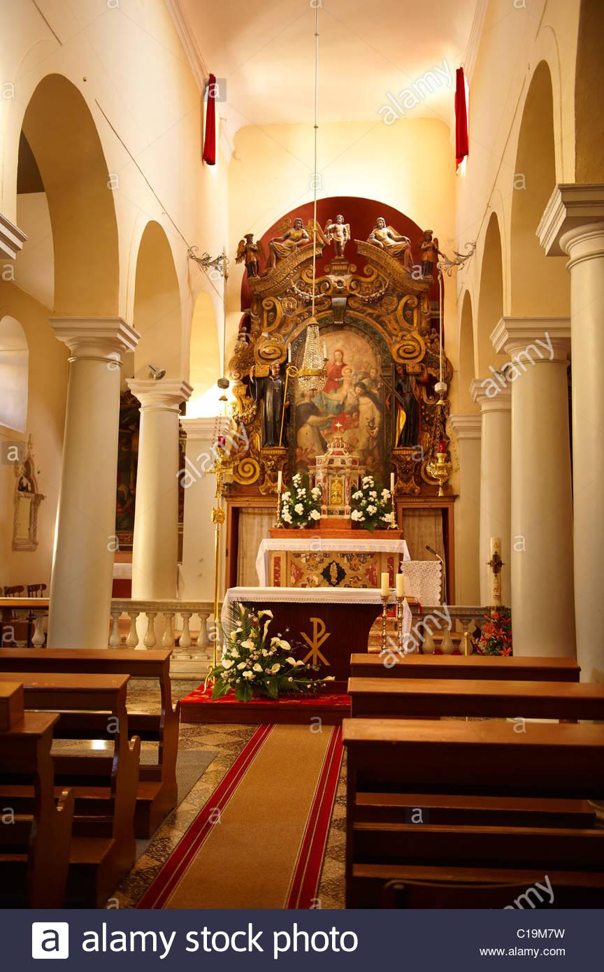 Abbaye bénédictine St Andrew Saint Benoît l'église de la ville de Rab Photo Stock