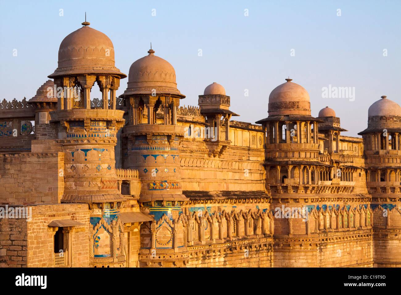 Fort Dans Une Ville Le Fort De Gwalior Gwalior Madhya Pradesh