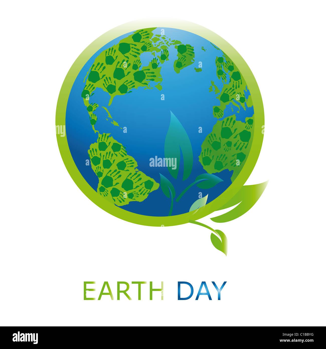 Le jour de la terre, symbole de la planète Photo Stock