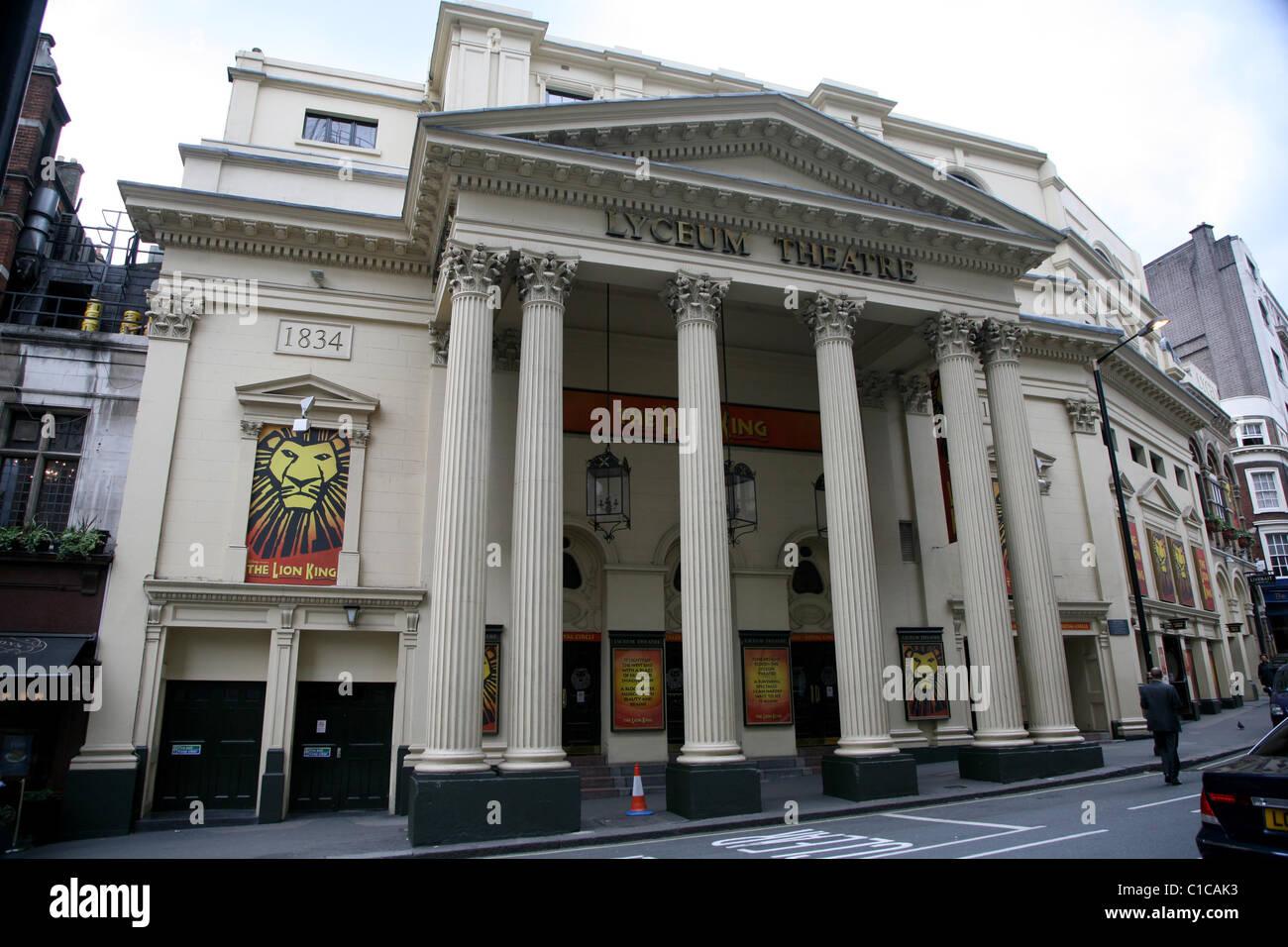 Vue générale de la gv Lyceum Theatre à Londres, en Angleterre. Photo Stock