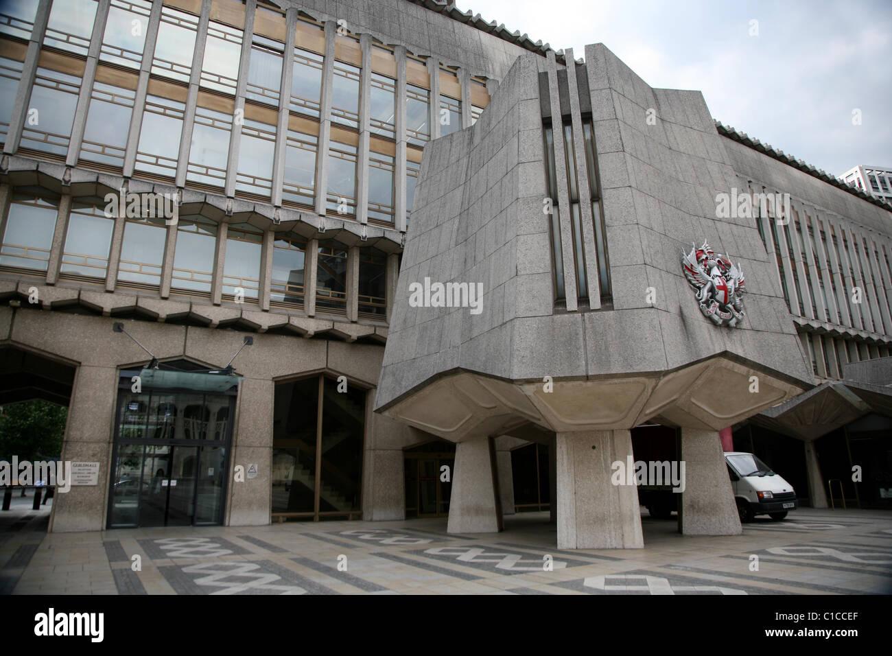 Vue générale de gv dans Guildhall Barbican, Londres, Angleterre. Photo Stock