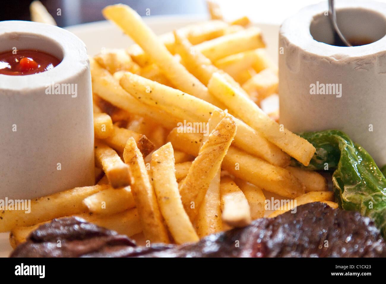 Frites, J&G Steakhouse à l'hôtel W, Washington DC Photo Stock