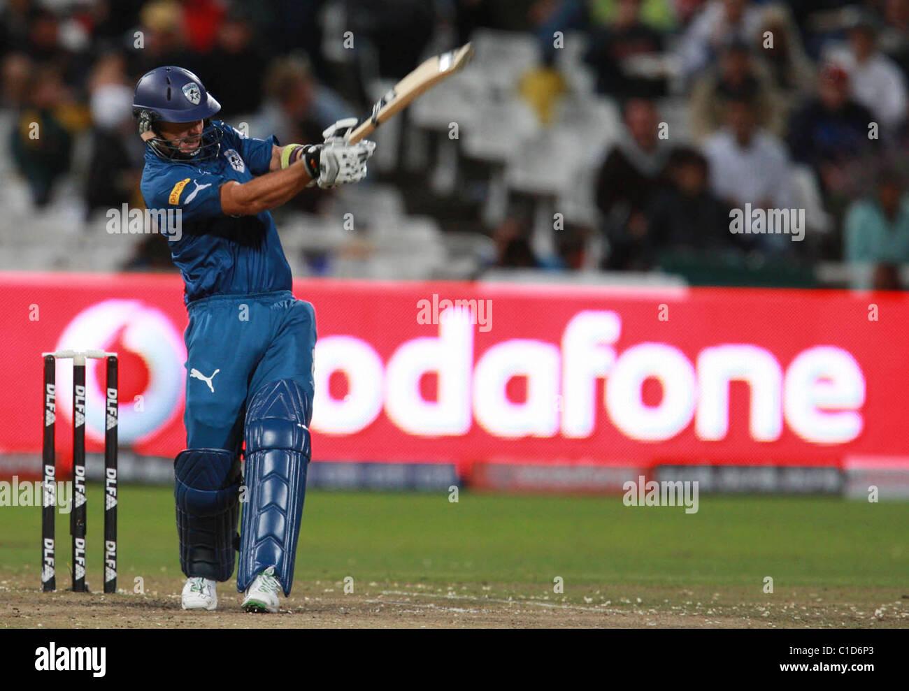 Chargeurs Deccan Herschelle Gibbs en action au cours de la vingtaine d'IPL20 match au Stade de Cricket Newlands Photo Stock