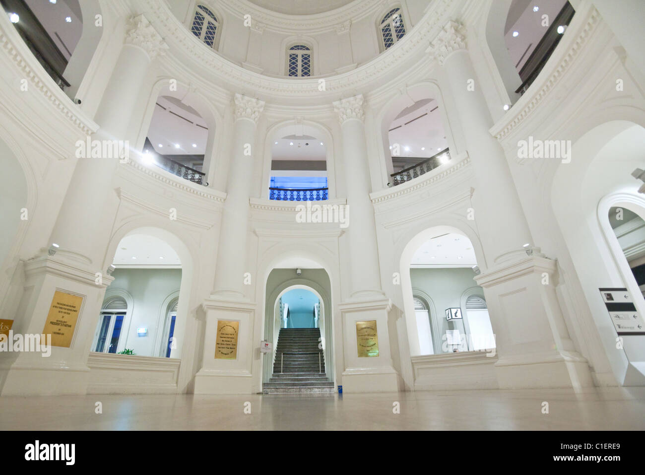 Architecture coloniale du Musée National de Singapour, Singapour Photo Stock