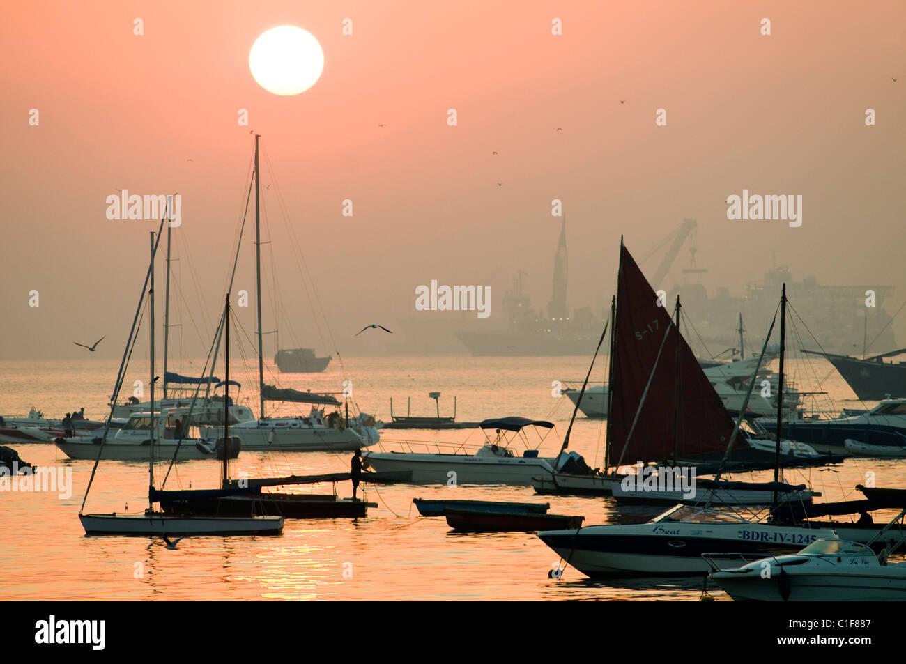 Mumbai, Inde scène portuaire Photo Stock