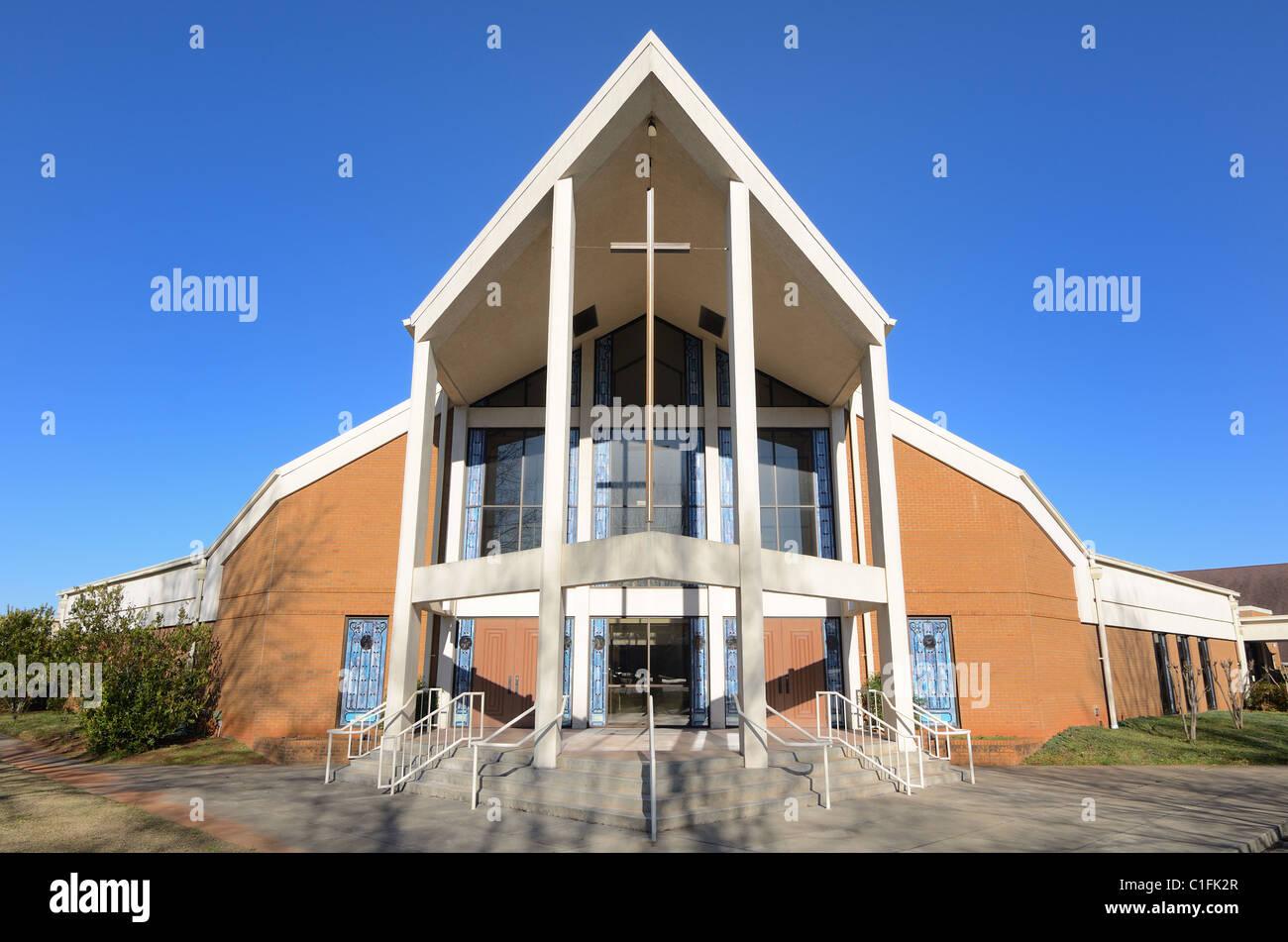 Architecture d'une église moderne Photo Stock