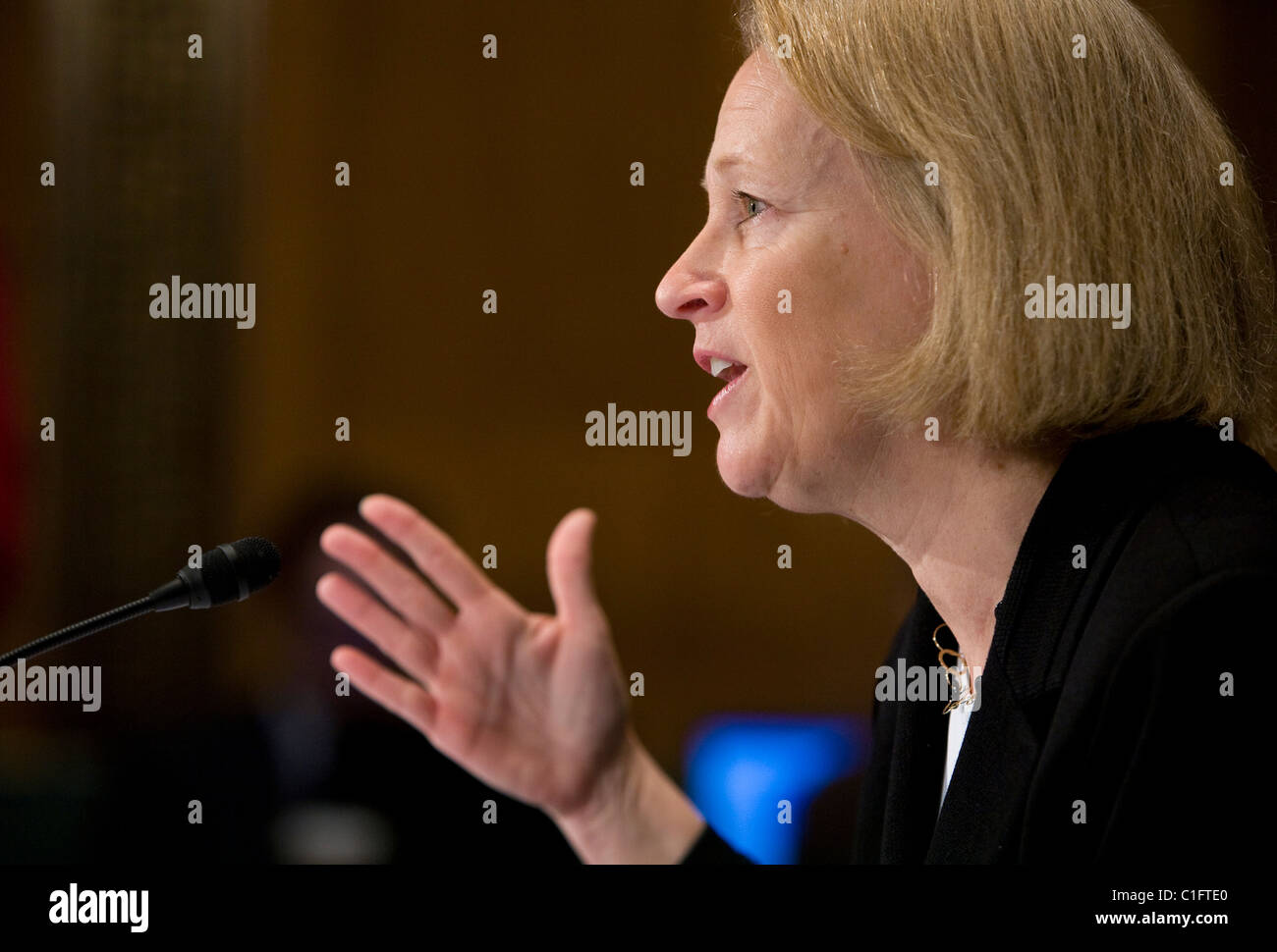 Mary Schapiro, Présidente de la Securities and Exchange Commission (SEC) Photo Stock